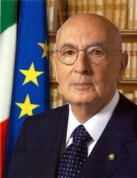 The President of The Republic of Italy is Mr. Giorgio Napolitano